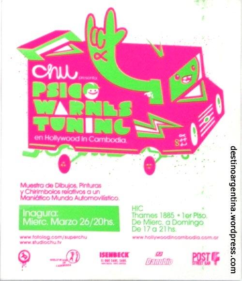 Flyer für Streetart Vernissage in Palermo Buenos Aires