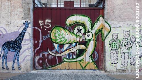 Grafitti Street Art in San Telmo Buenos Aires