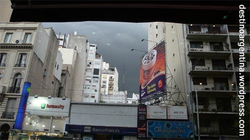 Heraufziehendes Unwetter Buenos Aires