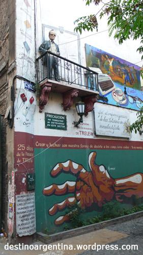 Typische Strassenkunst in San Telmo Buenos Aires