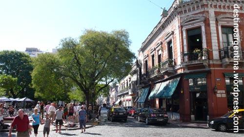 Plaza Dorrego bei Tag in San Telmo Buenos Aires