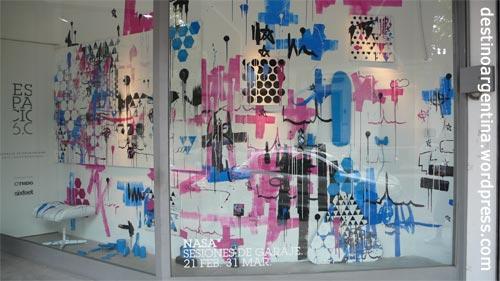 Schaufenster eines Klamottenladens in Palermo-Soho Buenos Aires
