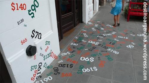 Sommerschlussverkauf in einem Shop in Palermo-Soho Buenos Aires