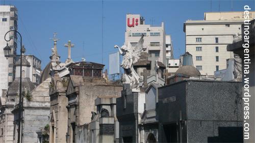 Blick auf Buenos Aires vom Friedhof in Recoleta