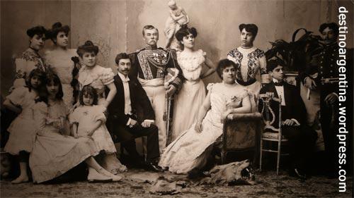 Wohlhabende Familie aus Buenos Aires um die Jahrhunderwende 1900
