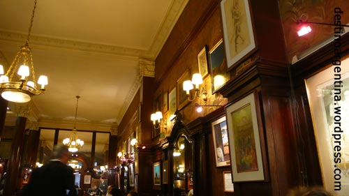Details im Café Tortoni in Buenos Aires Argentinien