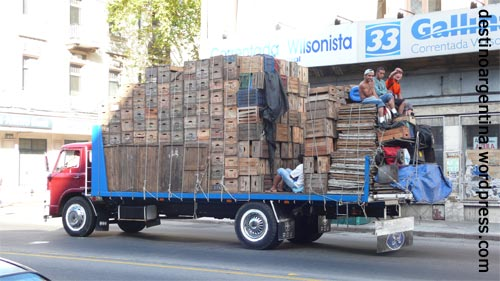 Oft gesehene Transporte in Montevideo Uruguay