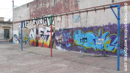 Spielplatz in Nähe des Regierunspalastes in Montevideo Uruguay