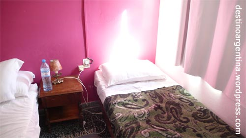 "Unser Zimmer im Hostel ""El Viajero"" in Colonia del Sacramento in Uruguay"