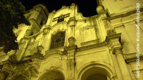 Altes Kirche im spanischen Kolonialstil in San Telmo Buenos Aires