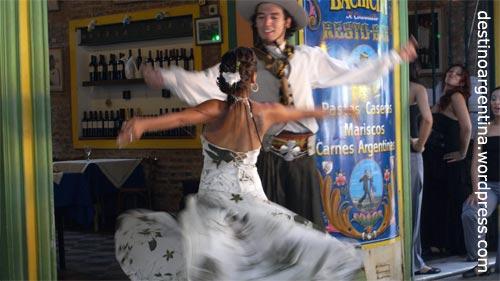 Folkloretanz in La Boca Buenos Aires