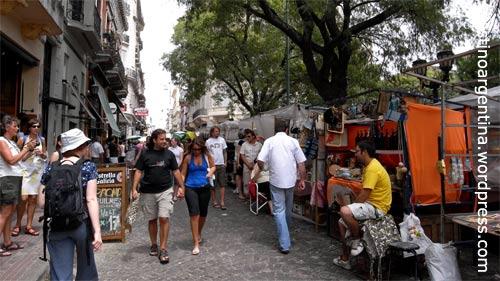 Feria de San Telmo an der Plaza Dorrego