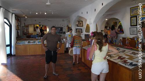 Gallerie Vilaró in der Casa Pueblo an der Punta Ballena nahe Punta del Este in Uruguay