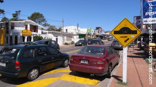 Hauptstrasse von La Barra in Uruguay