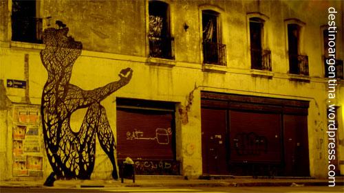HDR Streetart in der Calle Defensa in San Telmo Buenos Aires