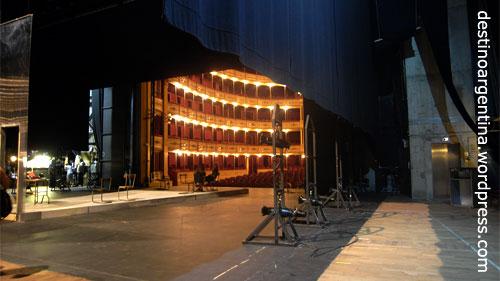 Hinter der Bühne des Teatro Solis in Montevideo, Uruguay