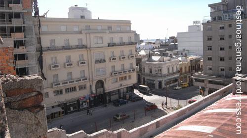 Montevideo vom Dach des Hostels Che Lagarto
