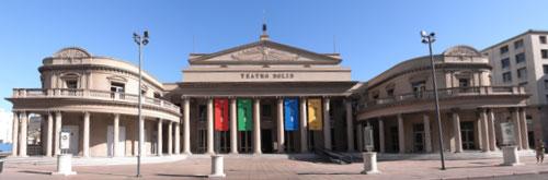 Panorama Teatro Solis in Montevideo, Uruguay