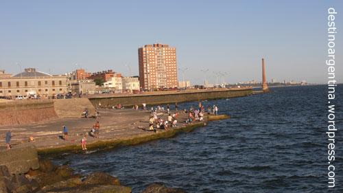 Rambla Francia in Montevideo, Uruguay