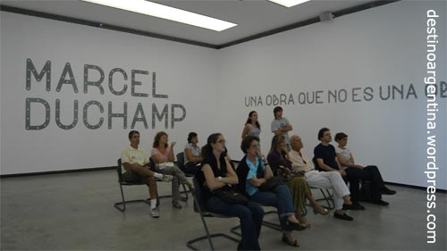 Saal 1 Marcel Duchamp im PROA in La Boca Buenos Aires