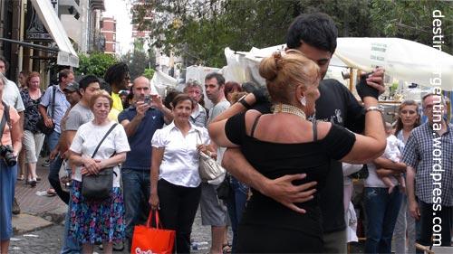Tango auf der Plaza Dorrego in San Telmo Buenos Aires