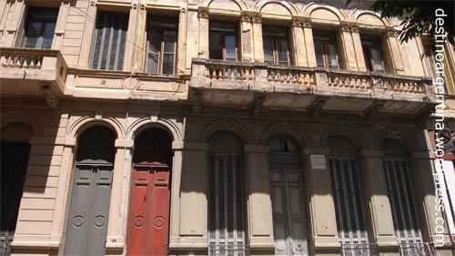 Alte Häuser in der Calle San Lorenzo in Rosario im Stadtzentrum