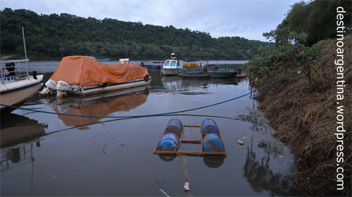 Hafen von Puerto Iguazú in Argentinien