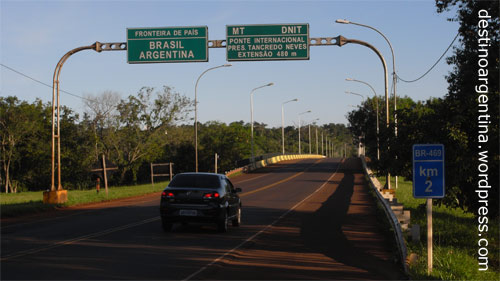 Internationale Grenze zwischen Argentinien und Brasilien