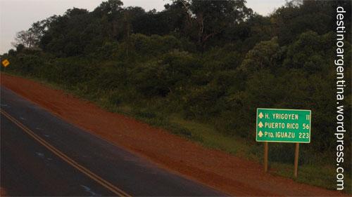 Routa 12 in der Provinz Misiones nach Puerto Iguazu in Argentinien